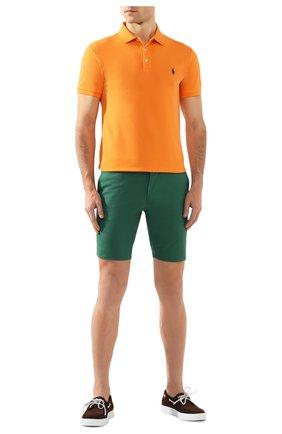 Мужское хлопковое поло  POLO RALPH LAUREN оранжевого цвета, арт. 710541705   Фото 2