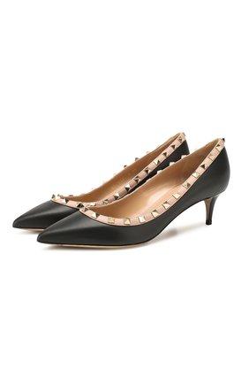 Женская кожаные туфли valentino garavani rockstud VALENTINO черного цвета, арт. TW2S0V22/V0D | Фото 1