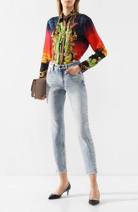 Женская кожаные туфли valentino garavani rockstud VALENTINO черного цвета, арт. TW2S0V22/V0D | Фото 2
