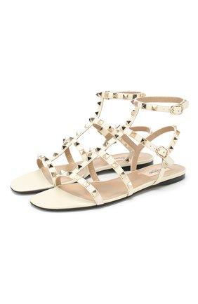 Кожаные сандалии Valentino Garavani Rockstud   Фото №1