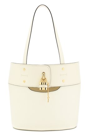 Женский сумка-тоут aby small CHLOÉ белого цвета, арт. CHC20SS222C44 | Фото 1
