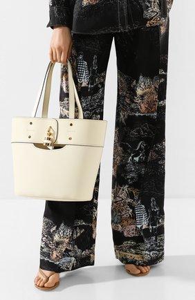Женский сумка-тоут aby small CHLOÉ белого цвета, арт. CHC20SS222C44 | Фото 2