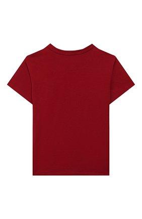 Детский хлопковая футболка DOLCE & GABBANA красного цвета, арт. L1JT6S/G7VEF | Фото 2