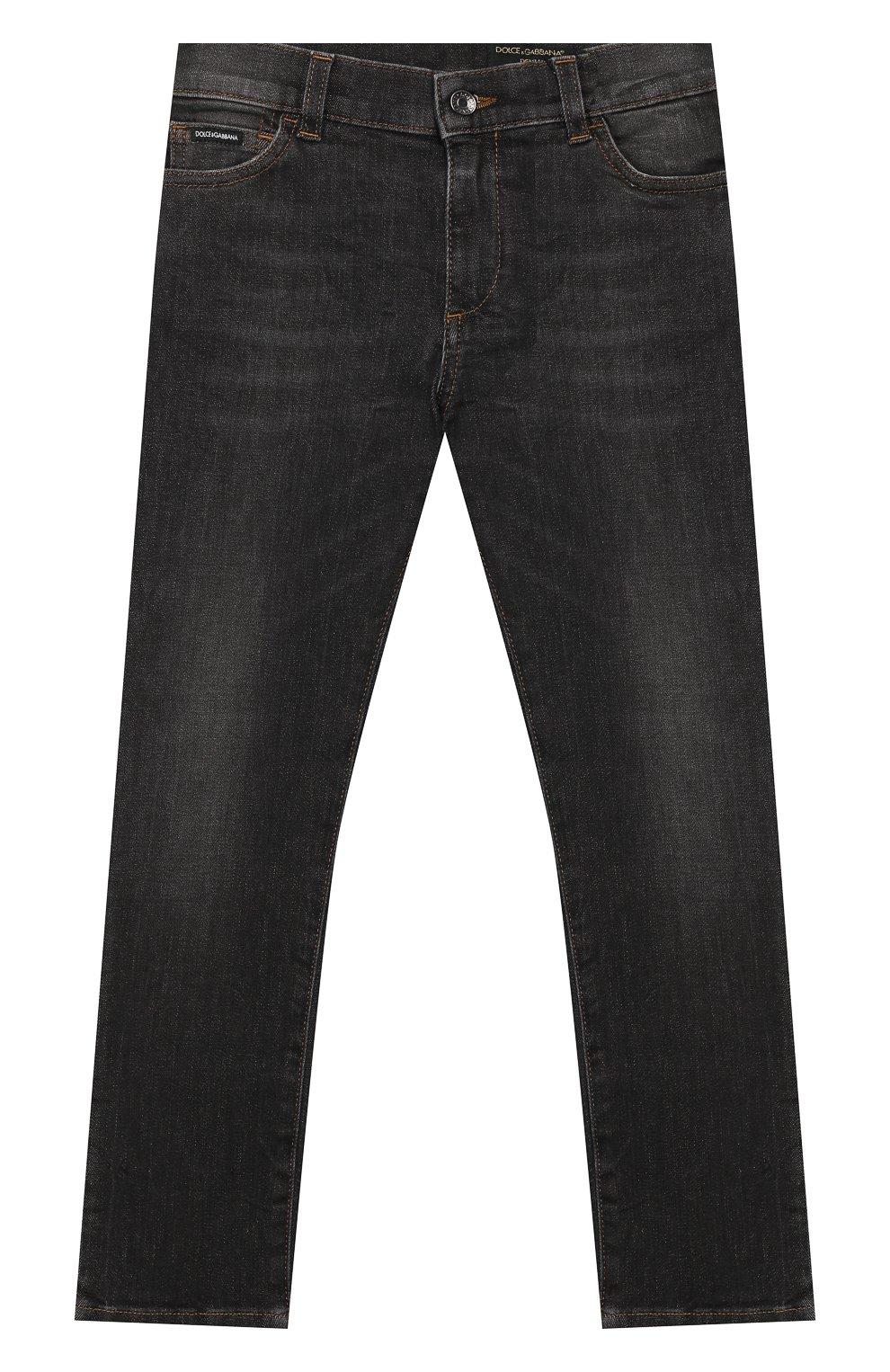 Детские джинсы DOLCE & GABBANA серого цвета, арт. L41F95/LD724/8-14 | Фото 1