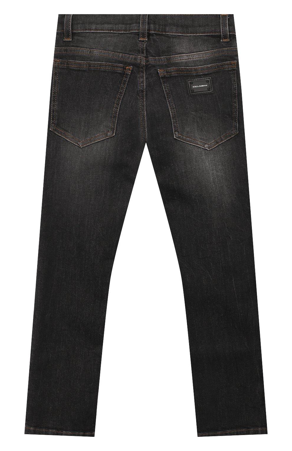 Детские джинсы DOLCE & GABBANA серого цвета, арт. L41F95/LD724/8-14 | Фото 2