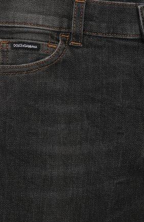 Детские джинсы DOLCE & GABBANA серого цвета, арт. L41F95/LD724/8-14 | Фото 3