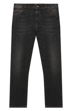 Детские джинсы DOLCE & GABBANA серого цвета, арт. L41F95/LD724/2-6   Фото 1