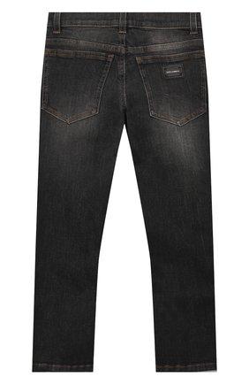 Детские джинсы DOLCE & GABBANA серого цвета, арт. L41F95/LD724/2-6   Фото 2