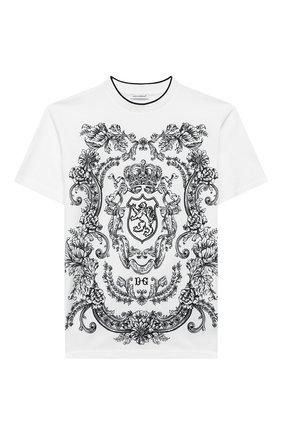 Детская хлопковая футболка DOLCE & GABBANA белого цвета, арт. L4JT9A/G7VG0/2-6 | Фото 1