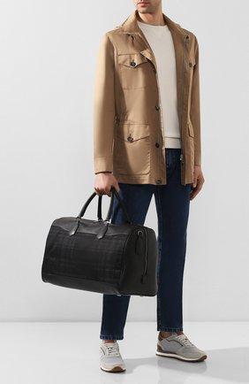 Мужская текстильная сумка CANALI черного цвета, арт. P325160/NC00093 | Фото 2
