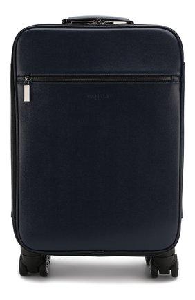 Мужской кожаный чемодан CANALI темно-синего цвета, арт. P325408/NA00053 | Фото 1