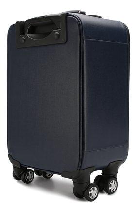 Мужской кожаный чемодан CANALI темно-синего цвета, арт. P325408/NA00053 | Фото 2