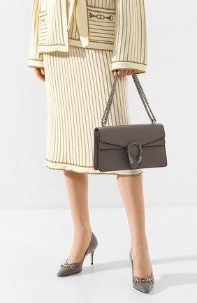 Женская сумка dionysus GUCCI серого цвета, арт. 400249/CA0GN | Фото 2