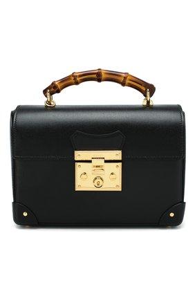 Женская сумка padlock GUCCI черного цвета, арт. 603221/1DBRG | Фото 1