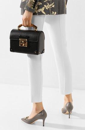 Женская сумка padlock GUCCI черного цвета, арт. 603221/1DBRG | Фото 2
