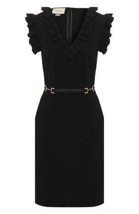 Женское платье GUCCI черного цвета, арт. 604896/XJBY0   Фото 1