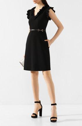 Женское платье GUCCI черного цвета, арт. 604896/XJBY0   Фото 2