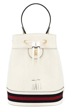 Женская сумка ophidia GUCCI белого цвета, арт. 610846/CWG1G | Фото 1