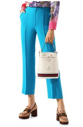 Женская сумка ophidia GUCCI белого цвета, арт. 610846/CWG1G | Фото 2