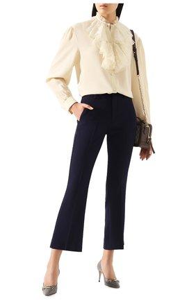 Женские брюки GUCCI синего цвета, арт. 610947/ZKR01 | Фото 2