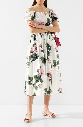 Женские кожаные сандалии GUCCI светло-розового цвета, арт. 524631/A3N00 | Фото 2