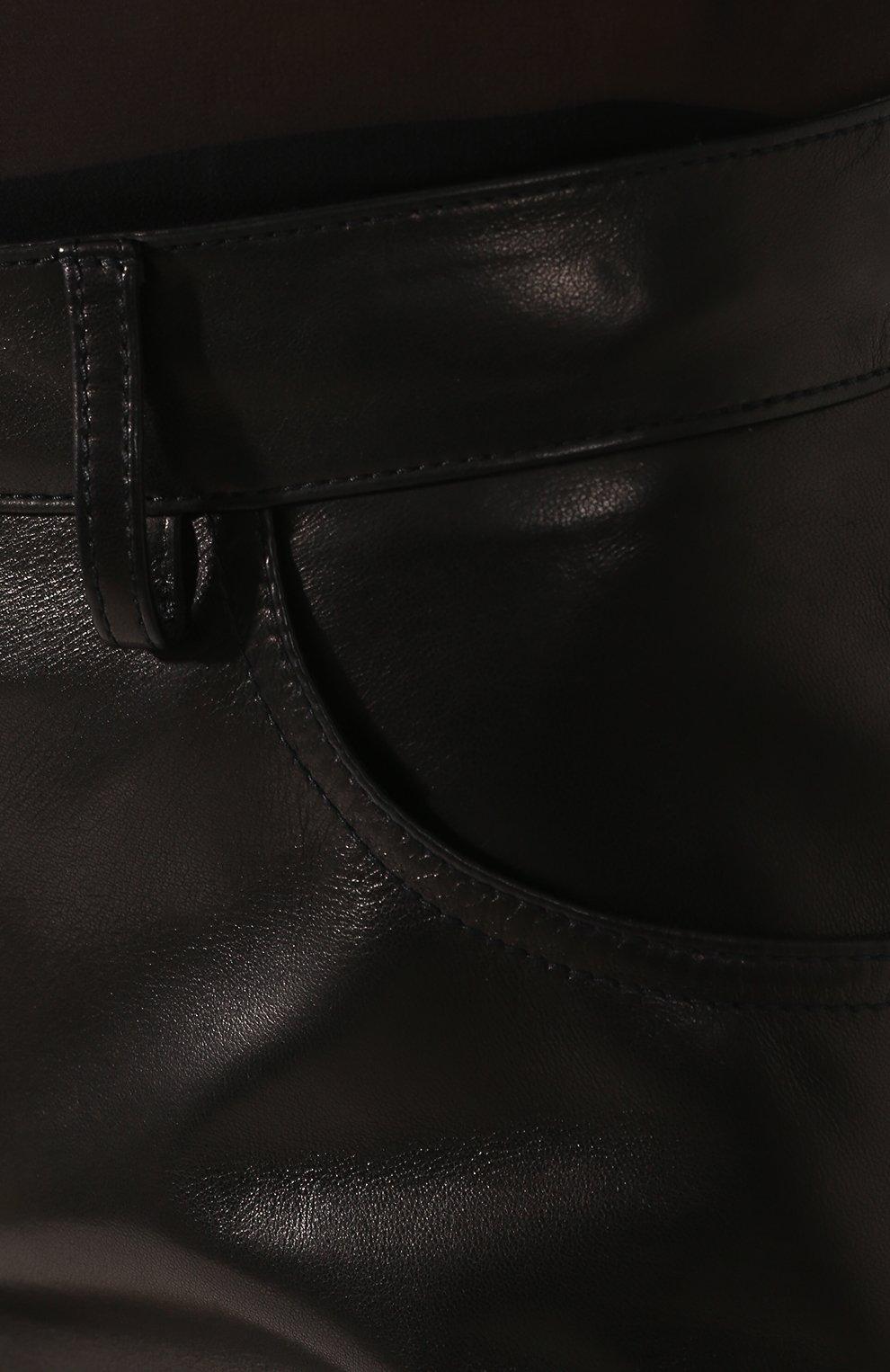 Женские кожаные шорты TOM FORD черного цвета, арт. SHL001-LEX228 | Фото 5