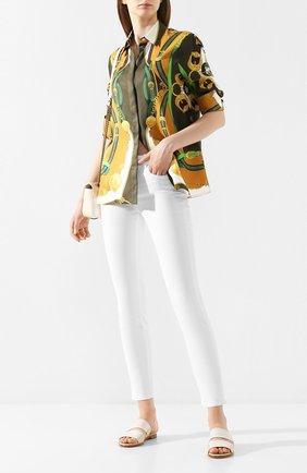 Женские кожаные шлепанцы kalahari LORO PIANA белого цвета, арт. FAL0486 | Фото 2