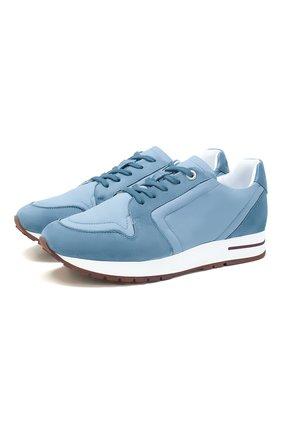 Женские комбинированные кроссовки my wind LORO PIANA голубого цвета, арт. FAL0090 | Фото 1