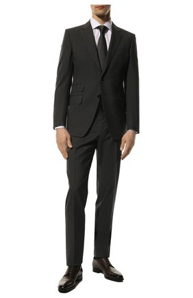 Мужской шерстяной костюм TOM FORD темно-серого цвета, арт. 711R01/21YA4C | Фото 1