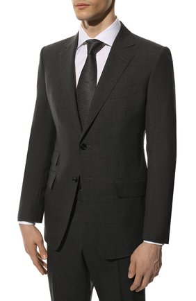 Мужской шерстяной костюм TOM FORD темно-серого цвета, арт. 711R01/21YA4C | Фото 2
