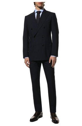 Мужской шерстяной костюм TOM FORD темно-синего цвета, арт. 711R03/21ED4Z | Фото 1