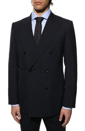 Мужской шерстяной костюм TOM FORD темно-синего цвета, арт. 711R03/21ED4Z   Фото 2