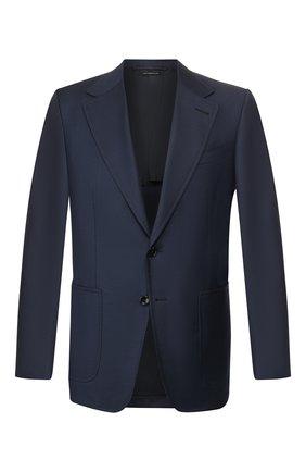Мужской шерстяной пиджак TOM FORD темно-синего цвета, арт. 722R02/15SR40   Фото 1