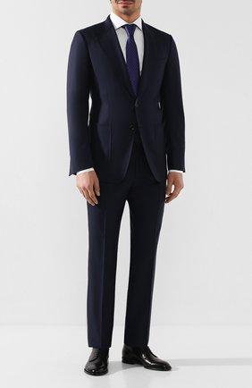 Мужской шерстяной пиджак TOM FORD темно-синего цвета, арт. 722R02/15SR40   Фото 2
