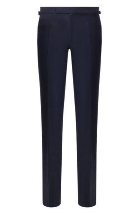 Мужские шерстяные брюки TOM FORD темно-синего цвета, арт. 722R02/61004Z | Фото 1