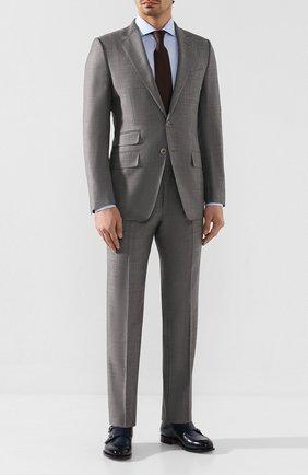 Мужской шерстяной костюм TOM FORD серого цвета, арт. 722R03/21YA4C | Фото 1