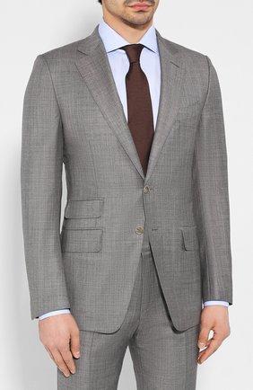 Мужской шерстяной костюм TOM FORD серого цвета, арт. 722R03/21YA4C | Фото 2