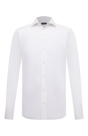 Мужская хлопковая сорочка TOM FORD белого цвета, арт. 7FT000/94S3AX | Фото 1
