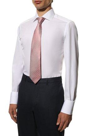 Мужская хлопковая сорочка TOM FORD белого цвета, арт. 7FT000/94S3AX | Фото 4