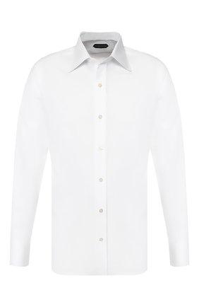 Мужская хлопковая сорочка TOM FORD белого цвета, арт. 7FT190/94S1JE | Фото 1