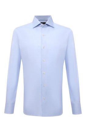 Мужская хлопковая сорочка TOM FORD синего цвета, арт. 7FT192/94S3AX | Фото 1