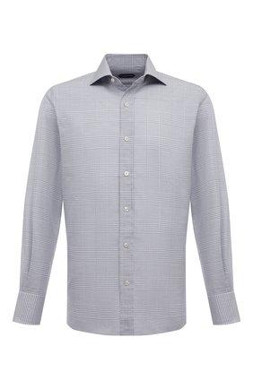 Мужская хлопковая сорочка TOM FORD серого цвета, арт. 7FT631/94S1AX | Фото 1