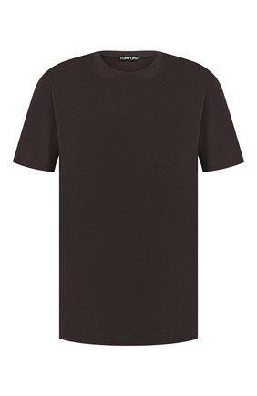 Мужская футболка TOM FORD коричневого цвета, арт. BU229/TFJ950   Фото 1