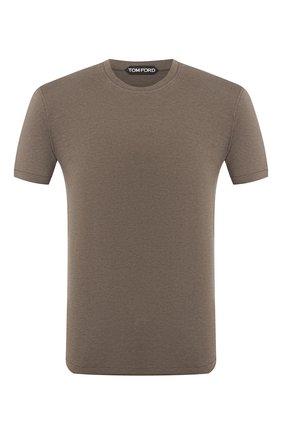 Мужская футболка TOM FORD темно-зеленого цвета, арт. BU229/TFJ950 | Фото 1