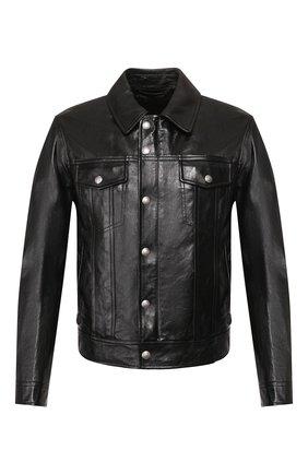 Мужская кожаная куртка TOM FORD черного цвета, арт. BU494/TFL755 | Фото 1