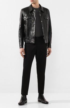 Мужская кожаная куртка TOM FORD черного цвета, арт. BU494/TFL755 | Фото 2