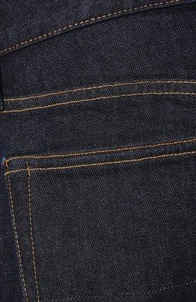 Мужские джинсы TOM FORD темно-синего цвета, арт. BUJ18/TFD002   Фото 5 (Силуэт М (брюки): Прямые; Кросс-КТ: Деним; Длина (брюки, джинсы): Стандартные; Материал внешний: Хлопок; Статус проверки: Проверена категория)