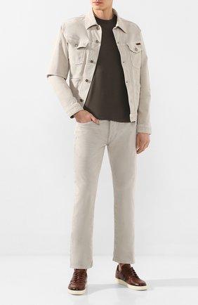Мужские джинсы TOM FORD бежевого цвета, арт. BUJ19/TFD002 | Фото 2