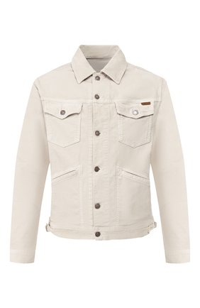 Мужская хлопковая куртка TOM FORD бежевого цвета, арт. BUJ19/TFD111 | Фото 1