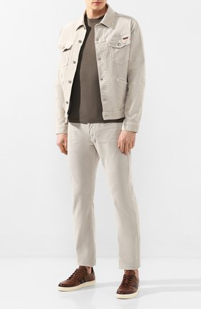 Мужская хлопковая куртка TOM FORD бежевого цвета, арт. BUJ19/TFD111 | Фото 2
